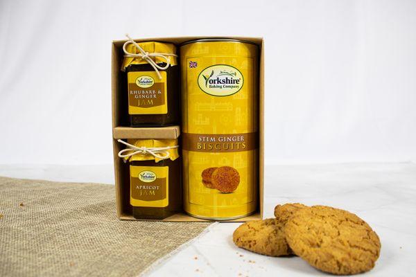 Stem Ginger Gift Set with Rhubarb & Ginger Jam and Apricot Jam
